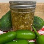Cucumber Jalapeno Jam Jar
